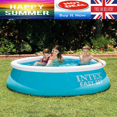 Large Family Swimming Pool 8 Ft Garden Outdoor Inflatable Kids Paddling Pools