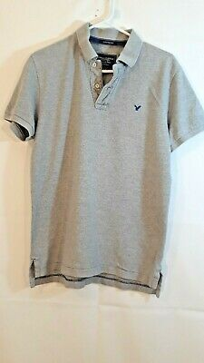 19dbede5 American Eagle Outfitters Men's Medium Gray Vintage Fit Pull Over Polo Shirt