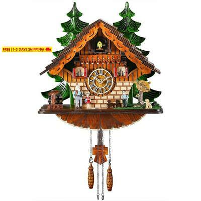 Kintrot Cuckoo Clock Traditional Chalet Black Forest House Clock Handcrafted Woo