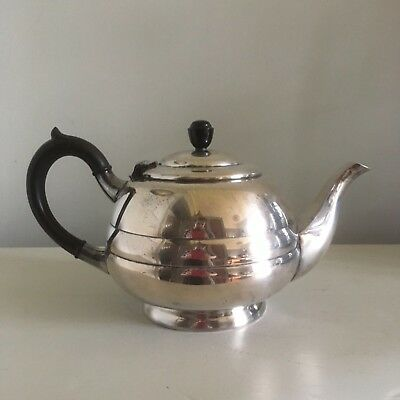Vintage 'Art Deco' Silver Plated Tea Pot  Walker and Hall (Sheffield) 1930's.