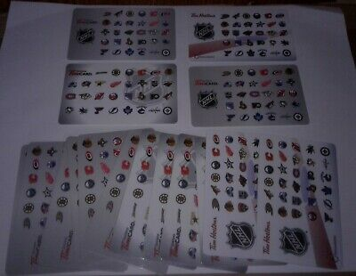 Tim Hortons Tim Cards Gift Cards NHL Logos 4 Mixed Years Lot of 16