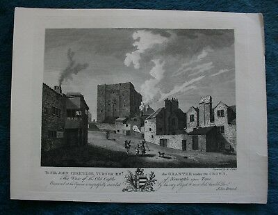 Old Castle - view from Brands History of Newcastle Upon Tyne pub 1789