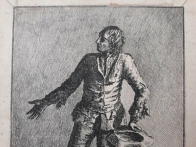 Rare English Beggar etching print 1770  As in British Museum & Royal Collection