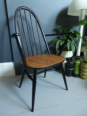 vintage retro mid century Ercol Quaker carver dining chair side chair arm chair