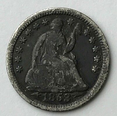 Dated : 1853 - Silver Coin - USA - Half Dime - American Coin