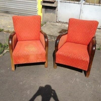 Vintage Lounge Chairs, Large Comfortable, Beautiful Reading Mid-Century Seats