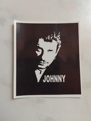 "Johnny Hallyday Stikers  ""Noir et blanc"""