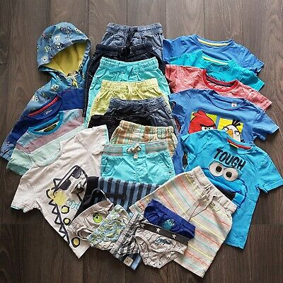 Baby Boys Summer Clothes Bundle Age 2-3 Years Shorts T-shirts Tops NEXT 24 Items