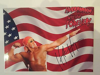 Wrestling Legend WWE Hulk Hogan AUTOGRAPHED picture photo-see Signing Proof
