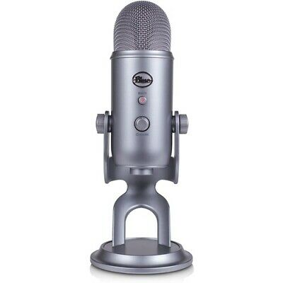 NEW Blue Microphones Yeti Space Gray USB Microphone Cool Grey Four Pattern