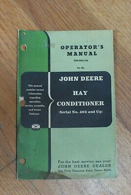 JOHN DEERE 20 Hay Conditioner Parts Catalog Manual - $5 95 | PicClick