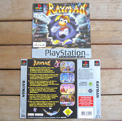 Rayman (1995) Playstation 1 Cover Originale, No Disco