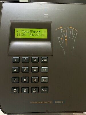 Recognition Systems HandPunch 2000 Biometric Time Clock - Preowned