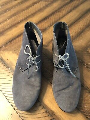 6f199d0bba0 Crown Vintage Womens Spark Chukka Boots Size 10M Gray Suede Wedge Heel Shoes