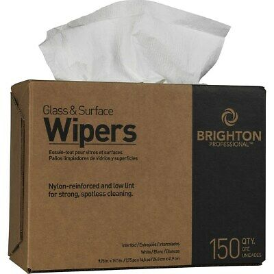 """Brighton Glass & Surface Wipers 9.75"""" x 16.5"""" 150/Bx 6/CT (BPR24350) 168602"""