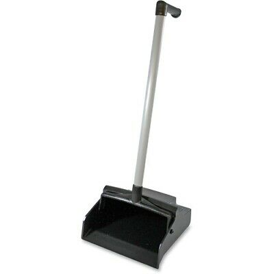 "Dust Pan,Lobby Master,PVC Handle,Plastic,32""x12""11"",Black GJO85147"