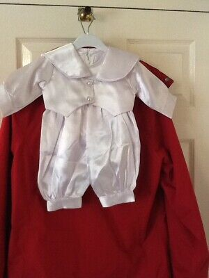 Baby Boys Christening Suit/Romper With Tails Jacket. 0-3Mths.