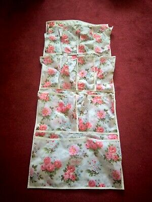 CATH KIDSTON Hanging Organiser ~ Floral Storage Wardrobe Bathroom Bedroom