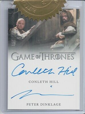 Game of Thrones 7, Hill / Dinklage 9 Case Incentive Dual Autograph Card