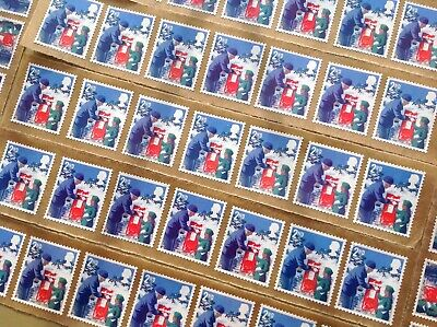 50 X 2Nd Class Unfranked Stamps Self Adhesive Easy Peal F/v £30.50