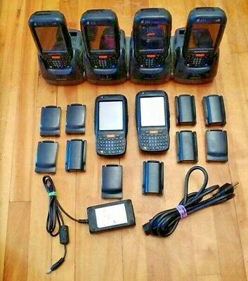 UNTESTED LOT 6x DATALOGIC ELF 944301008 HANDHELD PDA BARCODE SCANNERS+BATTERIES+