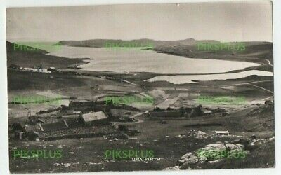 Old Postcard Ura Firth Shetland Real Photo Vintage Used Lerwick 1956