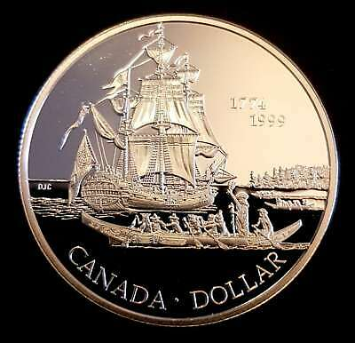 1999 $1 Dollar Canada Sterling SILVER Proof - Juan Perez - Uncirculated