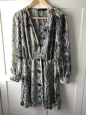 Zara Snakeskin Print Dress