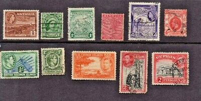 Commonwealth Stamps 10 nice 1940 to 1950 selection