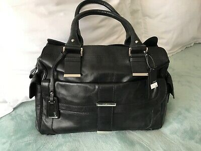 Next Large Black Leather Handbag  New With Tags