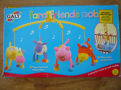 Galt ~ Musical Cot Farm Friends Mobile ~ From Zero Months ~ Brand New With Box..