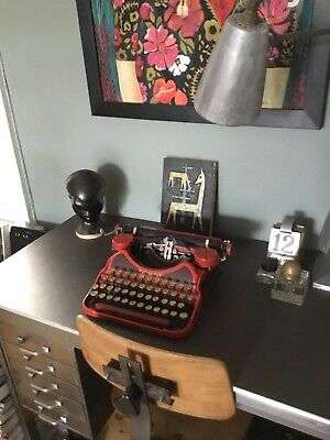 Smith Corona  Red 1920s Rare Typewriter