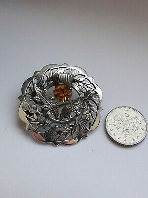 Vintage Sterling Silver Ward Brothers Scottish Thistle Brooch.