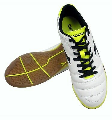629a7b13d Diadora Italica Goal R ID Mens Soccer Shoes Size 8.5 White Yellow - NEW