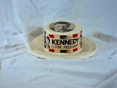 John F Kennedy Campaign Hat Kennedy for President Plastic Hat
