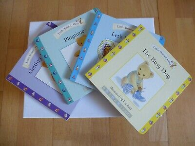 Set of 4 Little Brown Bear Childrens Board Books for 1-3yrs : Busy Day, Playtime