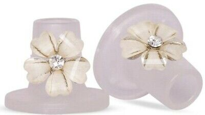 Clean Heels Heel Stoppers FREE P&P Heel Shoe Protector - Crystal Rose SMALL