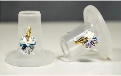 Clean Heels Heel Stoppers FREE P&P - Crystal Heart Swarovski - MEDIUM
