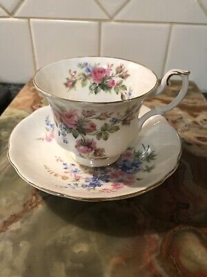 Royal Albert Moss Rose Cup With Unmatched Saucer