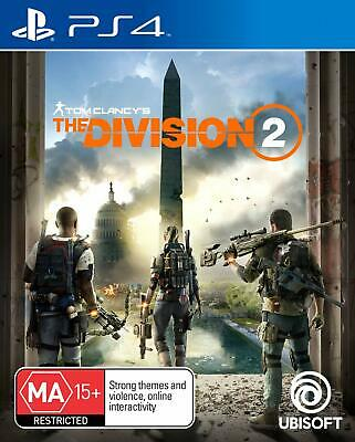 The Division 2 Tom Clancys Shooter PS4 Playstation 4 BRAND NEW FAST FREE POST