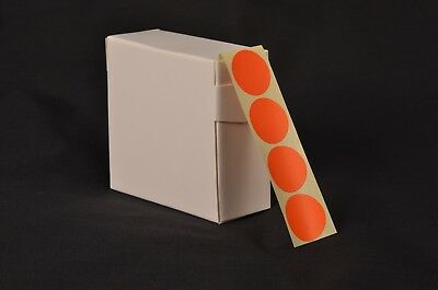 1000 Orange Stickers 25Mm Dia. Coloured Round Self Adhesive Labels Sticky Dots