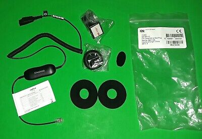 Jabra QD GN1200  88011-99 Coiled Smart Cord Headset New With Foam Ear Bud lot