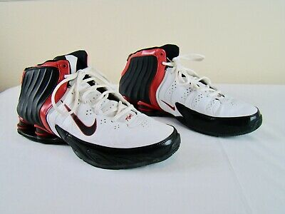 new style a6888 a268c NIKE SHOX FLIGHT Zoom Mid Top Black White Red Sneakers - Size 13
