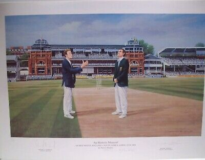 an historic moment cricket england v south africa signed limited edition