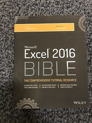 Microsoft Office Excel 2016 Bible Book Wiley