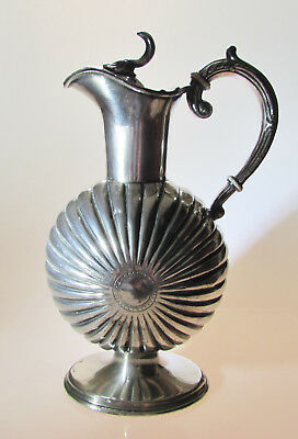 Rare Early Silver Plated Flagon