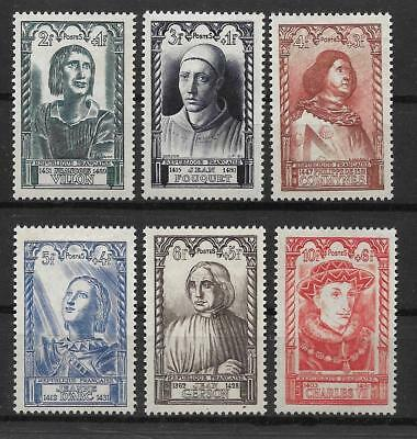 France 1946 National Relief Fund Sg 985-90 Set 6 Mlh. Cat £17.00.