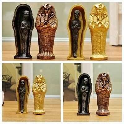 Egypt Mummy Statue Resin Ancient Egyptian Coffin Figurine Sculpture Home Decor