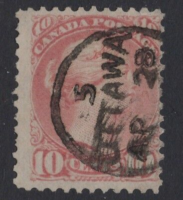 CANADA #45 10c  DROP LETTER CANCEL     SMALL QUEEN ISSUE  FINE