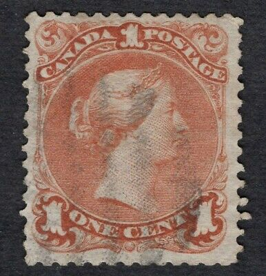 CANADA #22b 1c  brown red  LARGE QUEEN ISSUE 1868 FINE